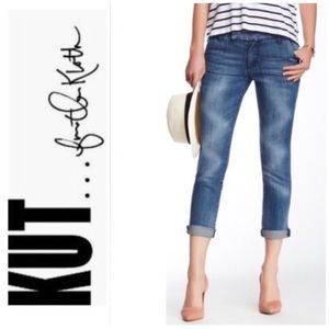 KUT from the Cloth Distressed Boyfriend Crops